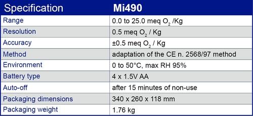 Especificación Mi490